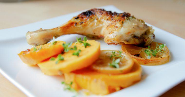 Citrónovo-bylinkové kuře s batáty
