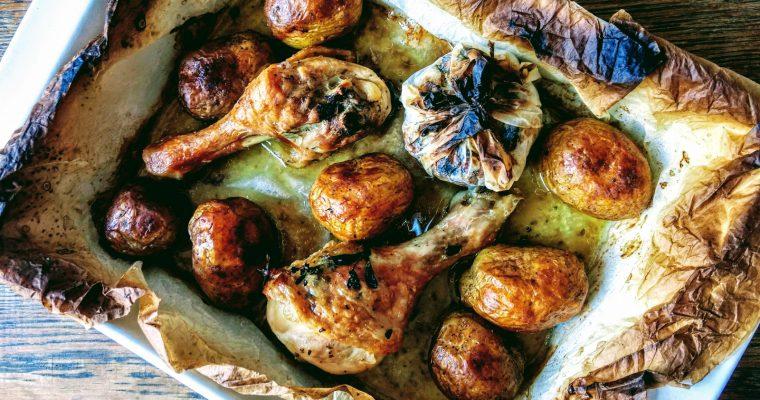 Kuře s omáčkou z pečeného česneku