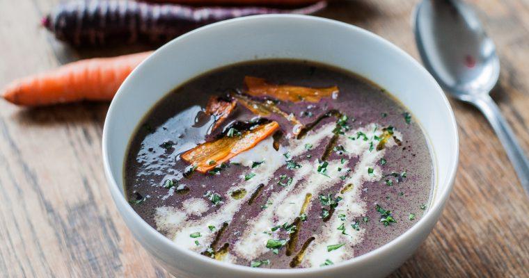 Krémová polévka z dračí mrkve