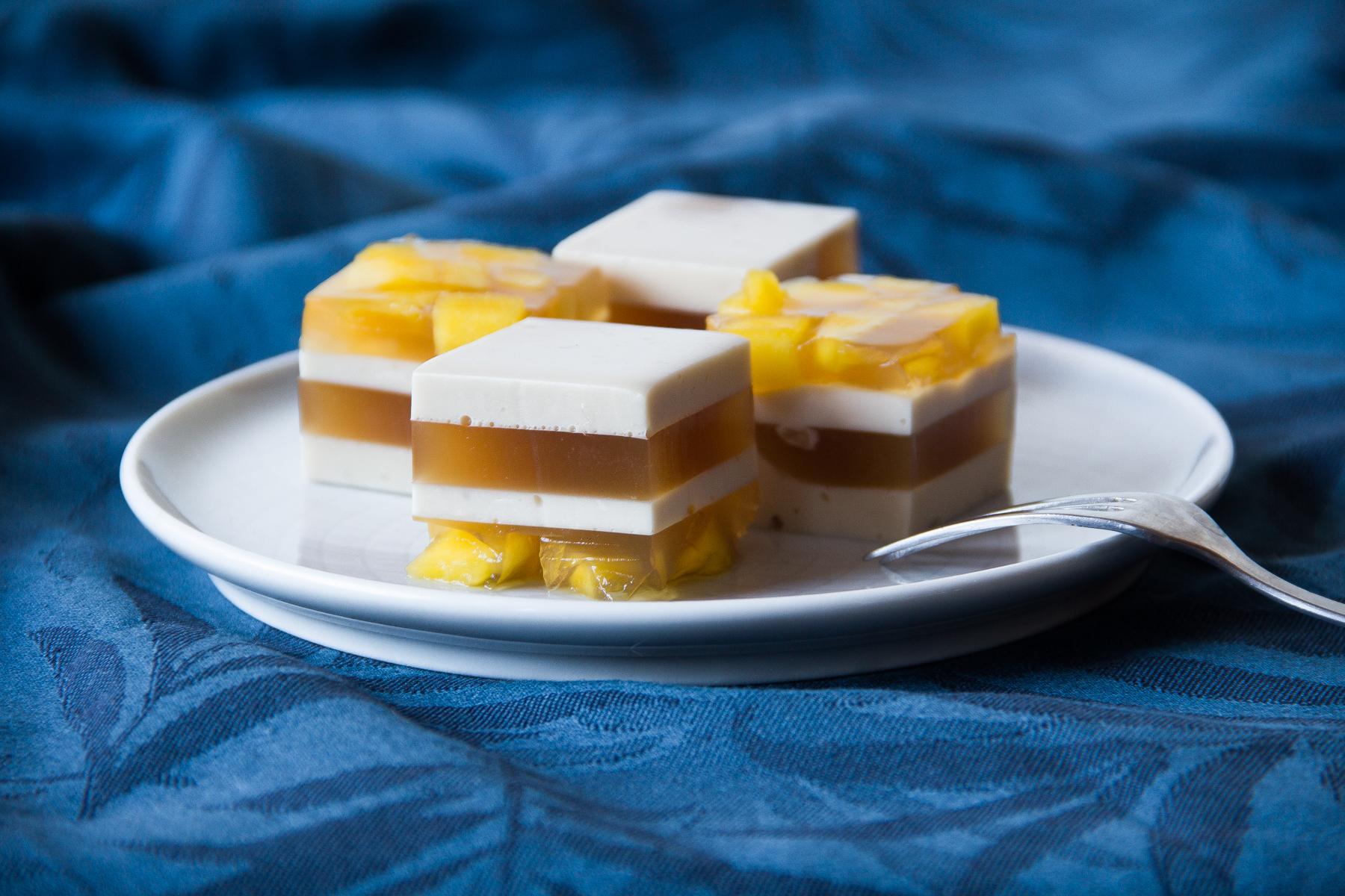 Mango-kokosové želé