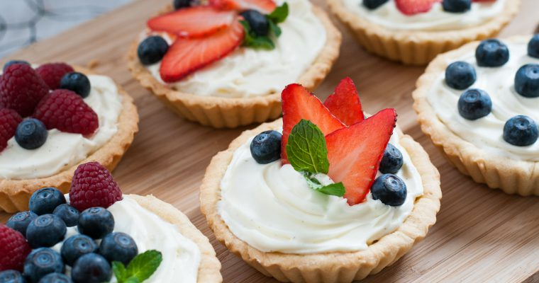 Tartaletky s vanilkovým krémem