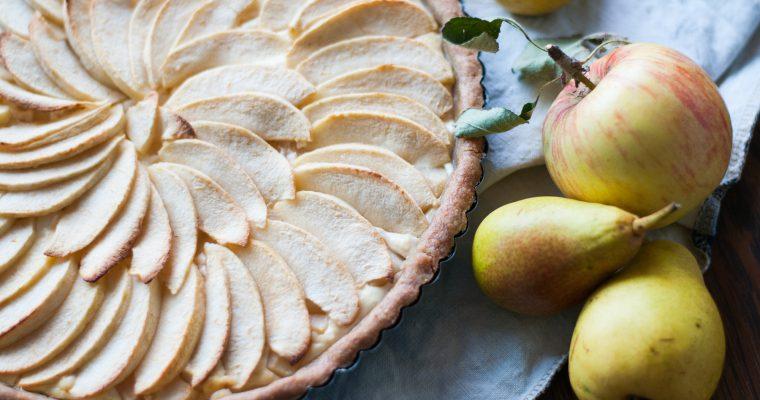 Hruškovo-jablečný koláč s tvarohem