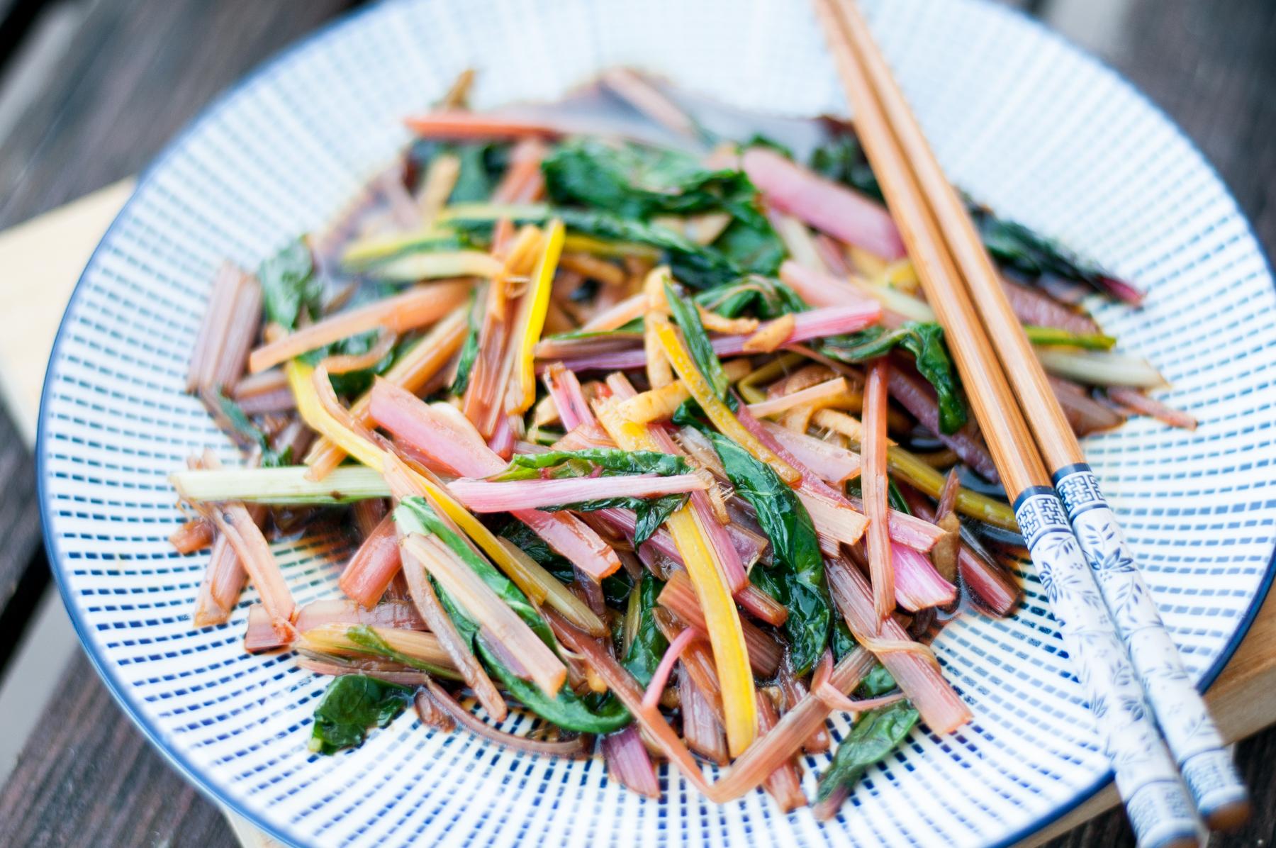 Mangoldové stir-fry