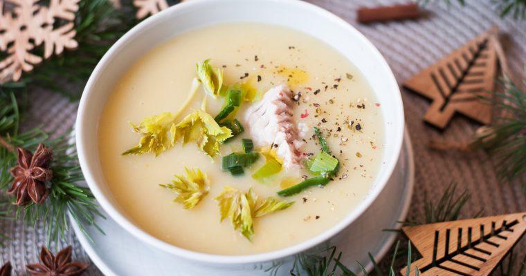 Krémová rybí polévka s pórkem
