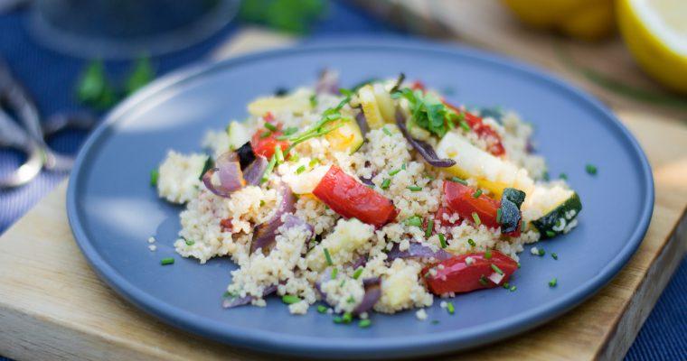 Salát z kuskusu s pečenou zeleninou